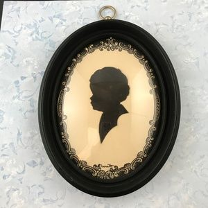 Vintage Framed Silhouette; Young Boy